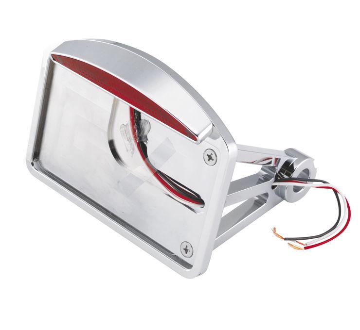 Biker's Choice バイカーズチョイス ナンバープレート関連 スリムキャットアイ LED ナンバープレートフレーム 【Slim Cateye LED License Plate Frames [490256]】 FLST FXST