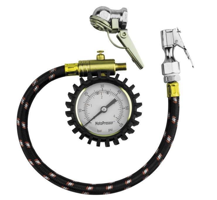 HelmetLokヘルメットロック エアゲージ MOTOPRESSOR セール価格 インラインタイヤゲージ 直送商品 Motopressor Inline HelmetLok 132185 Gauge Tire ヘルメットロック