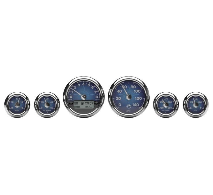 Medallion メダリオン スピードメーター プレミアム バガーゲージキット 【Premium Bagger Gauge Kits】 TYPE:Blue Classic [475509]