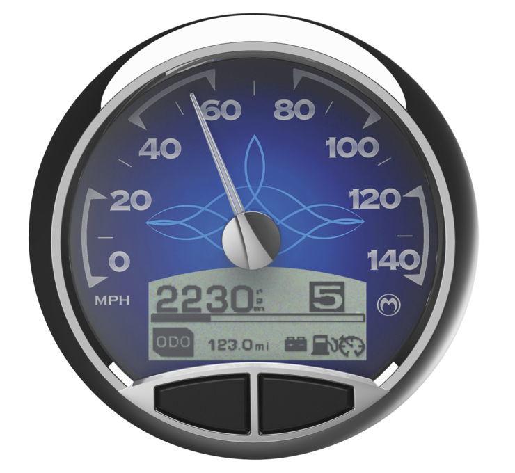 Medallion メダリオン スピードメーター プレミアム コンソールゲージキット 【Premium Console Gauge Kits】 TYPE:Blue Classic [475547] FLHR FLST