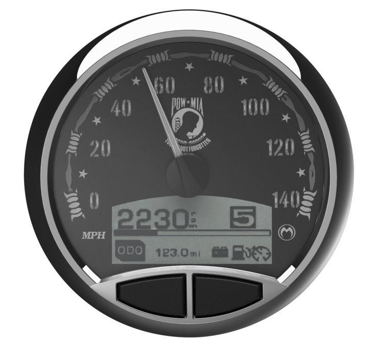 Medallion メダリオン スピードメーター プレミアム コンソールゲージキット 【Premium Console Gauge Kits】 TYPE:POW [475549] FLHR FLST