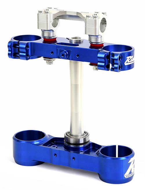 Ride Engineering ライドエンジニアリング トップブリッジ トリプルクランプキット 22mm オフセット カラー:ブルー