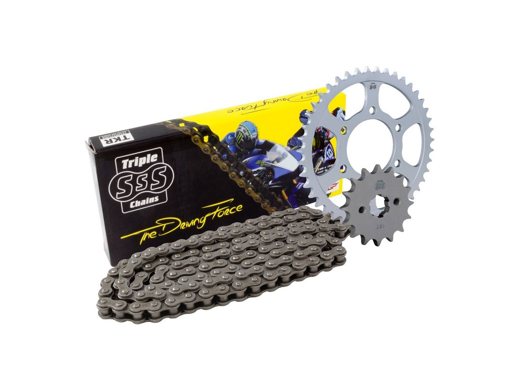 BIKE IT バイクイット スプロケット Yamaha WR250 W X/Y 08-10 Chain & Sprocket Kit: 13T Front, 42T Rear, HD Chain 520H 108 Link
