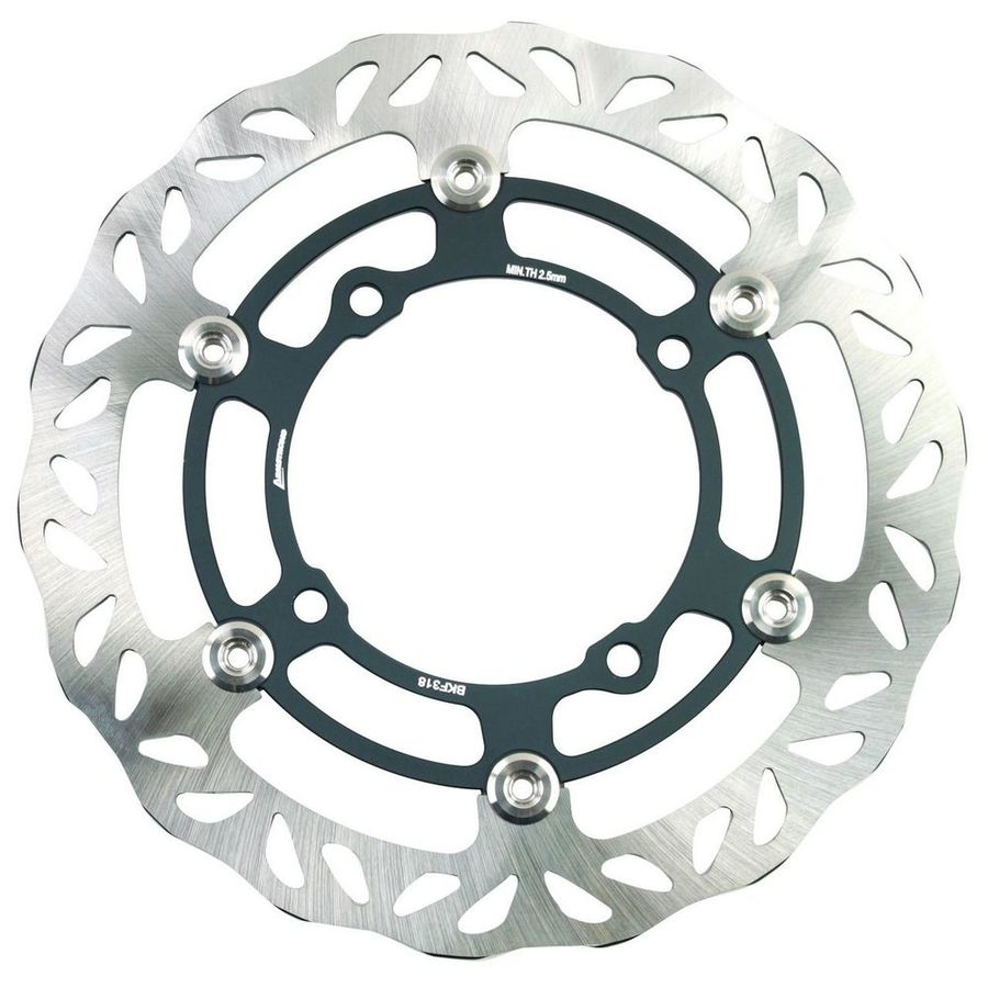 ARMSTRONG アームストロング ディスクローター OVERSIZE KAWASAKI FRONT FLOATING BRAKE DISC MX WAVY 1PC 270MM WITH ADAPTOR #0402