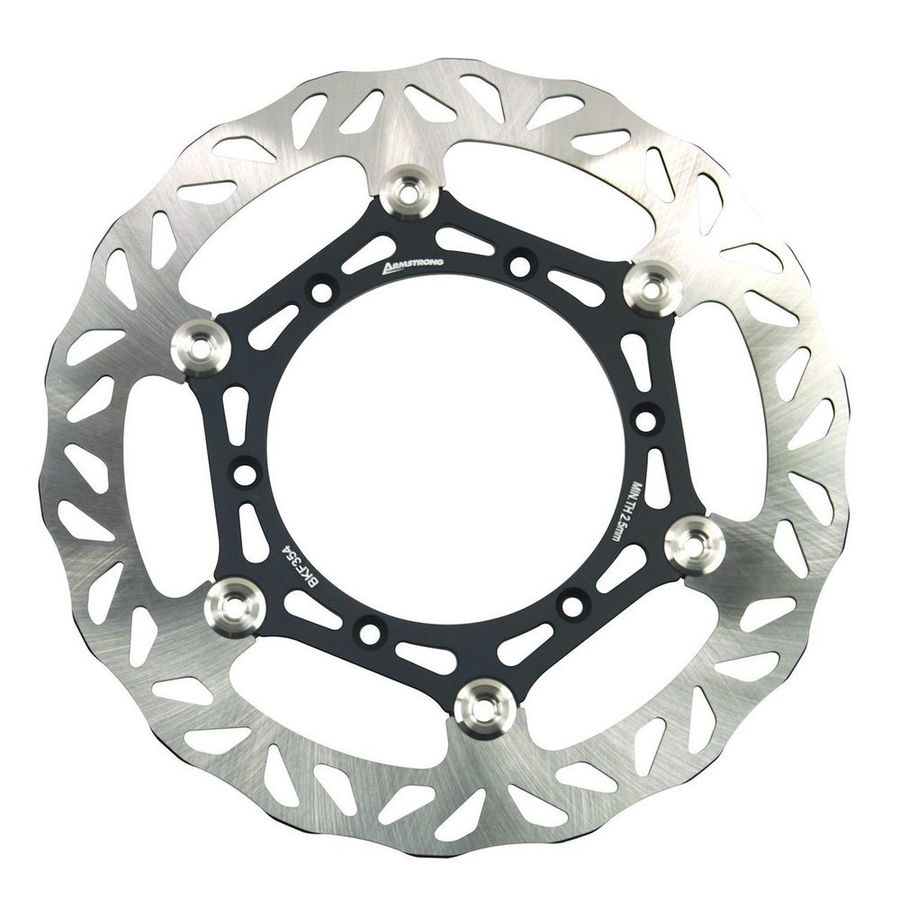 ARMSTRONG アームストロング ディスクローター OVERSIZE YAMAHA FRONT FLOATING BRAKE DISC MX WAVY 1PC 270MM WITH ADAPTOR #0978