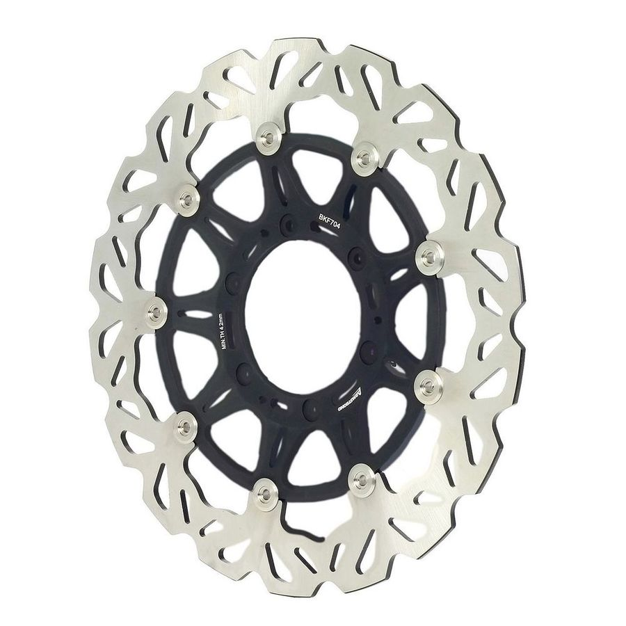 ARMSTRONG アームストロング ディスクローター OVERSIZE HONDA - FRONT FLOATING BRAKE DISC MX WAVY 1PC 270MM WITH ADAPTOR #0879