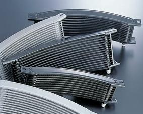 【送料無料】オイルクーラー ACTIVE アクティブ 14009166B  ACTIVE アクティブ オイルクーラー関連部品 汎用ラウンドオイルクーラーコア本体 カラー:ブラック サイズ:#6 9インチ16段(146mm)