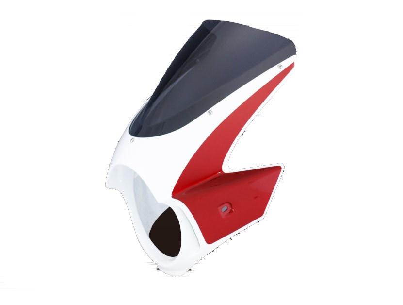 Force-Design フォルスデザイン ビキニカウル・バイザー ビキニカウル エンデュランススクリーン カラー:パールフェイドレスホワイト/キャンディアルカディアンレッド スクリーンカラー:スモーク CB1300スーパーフォア