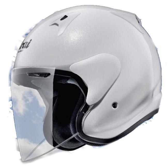 【送料無料】ヘルメット Arai アライ W-049-101  【在庫あり】Arai アライ ジェットヘルメット SZ-G [エスゼット ジー グラスホワイト] ヘルメット サイズ:L(59-60cm)