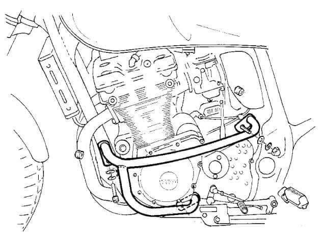 HEPCO&BECKER ヘプコ&ベッカー エンジンガード GSX 1200 GSF 1200