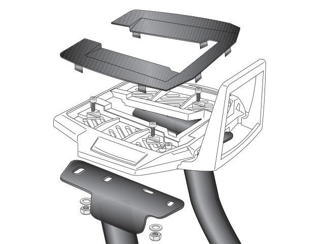 HEPCO&BECKER ヘプコ&ベッカー トップケースホルダー/アルラック FZ6 FZ6 Fazer