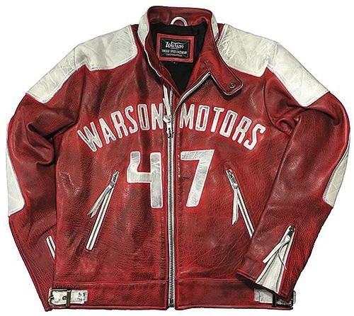 Warson Motors 【Warson Motors】 MOTORCYCLE LEATHER JACKET RED SWISSMOTO (モーターサイクルレザージャケット リミテッドエディション)