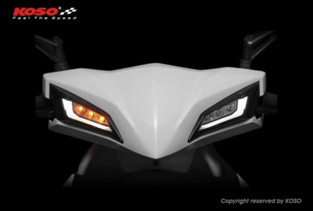 KOSO コーソー ウインカー LED フロントウインカーセット RACING S 125 RACING150Fi