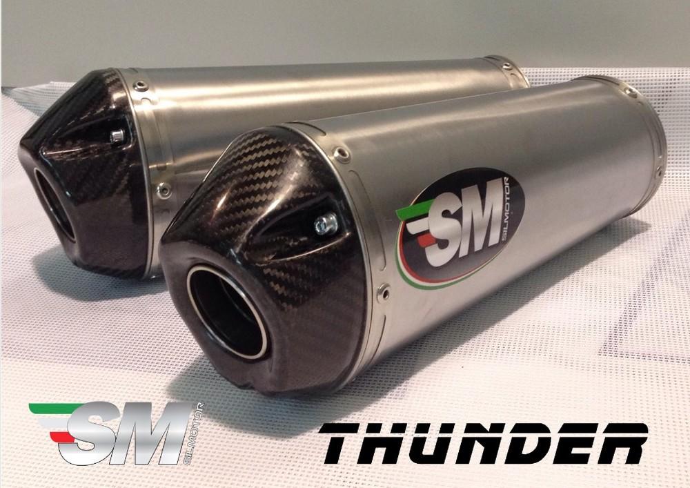 Silmotor シルモーター スリップオンマフラー スリップオンサイレンサー 新型 サンダー カーボンエンドキャップカーボン付き 素材:ステンレス MONSTER1100/S MONSTER696 MONSTER796