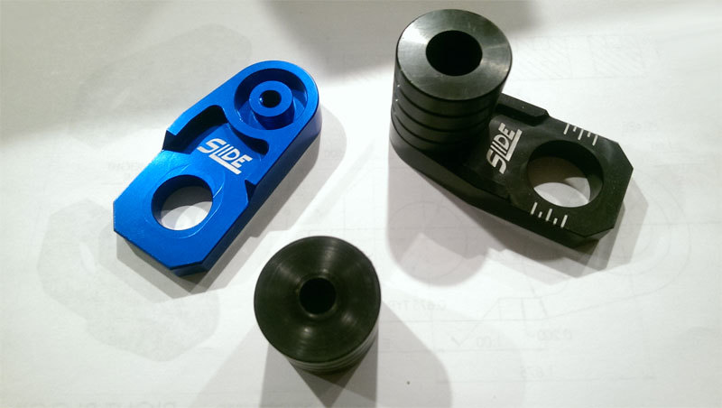SLIDE スライド ガード・スライダー フロント&リアアクスル ブロック スライダーセット カラー:オレンジ RM-Z250 RM-Z450 RM125 RM250