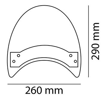CUSTOM ACCES カスタムアクセス ROADSTER ウインドスクリーン XV1600ワイルドスター