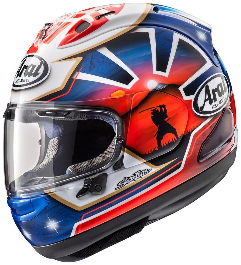 Arai アライ フルフェイスヘルメット RX-7X PEDROSA SAMURAI SPIRIT BLUE[アールエックス セブンエックス ペドロサ サムライ スピリット ブルー] ヘルメット サイズ:S(55-56cm)