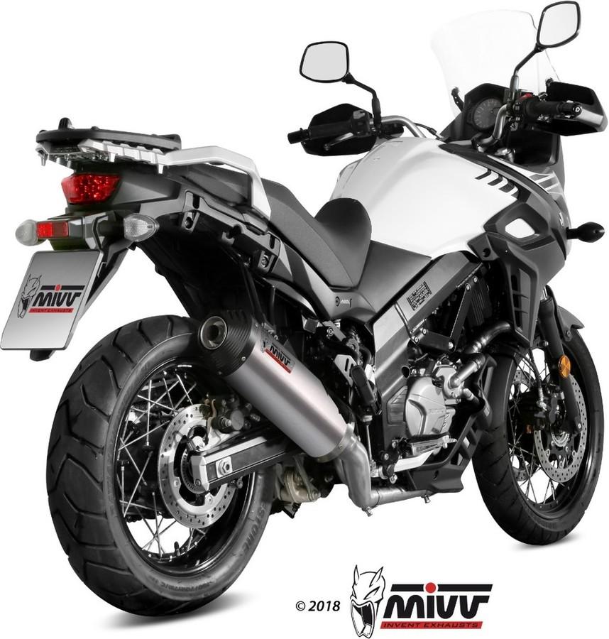 MIVV ミヴ OVAL スリップオンマフラー Vストローム650