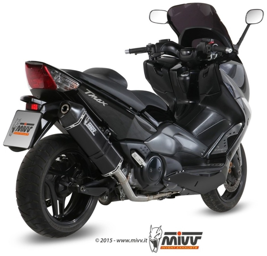 MIVV ミヴ SPEED EDGE BLACK フルエキゾーストマフラー TMAX500