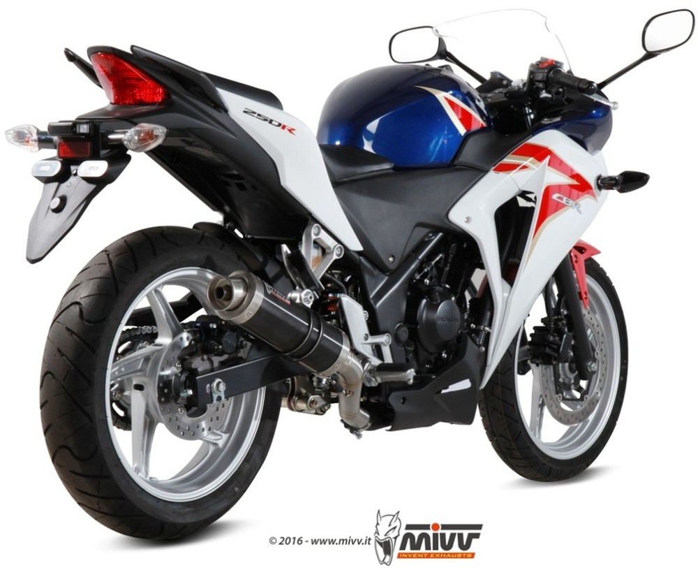 MIVV ミヴ GP BLACK スリップオンマフラー CBR250R (2011-)