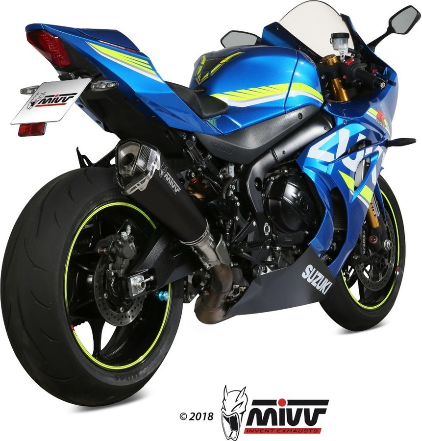 MIVV ミヴ DELTA RACE ブラック スリップオンマフラー GSX-R1000