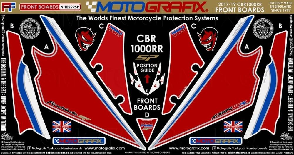 【ポイント5倍開催中!!】MOTOGRAFIX モトグラフィックス ステッカー・デカール ボディーパッド カラー:レッドwithホワイト、ブルー、ブラック、ゴールド&メタリックシルバー CBR1000RR