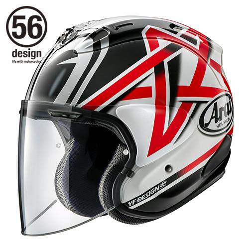 56デザイン ジェットヘルメット Arai×56design VZ-RAM NAKANO [ブイゼット ラム ナカノ] ヘルメット サイズ:L (59-60cm)