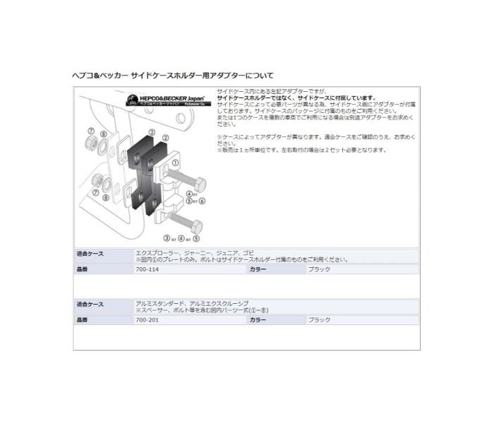 HEPCO&BECKER ヘプコ&ベッカー バッグ・ボックス類取り付けステー サイドケースホルダー 「LockIt」 XSR700 XSR700 Xtribute