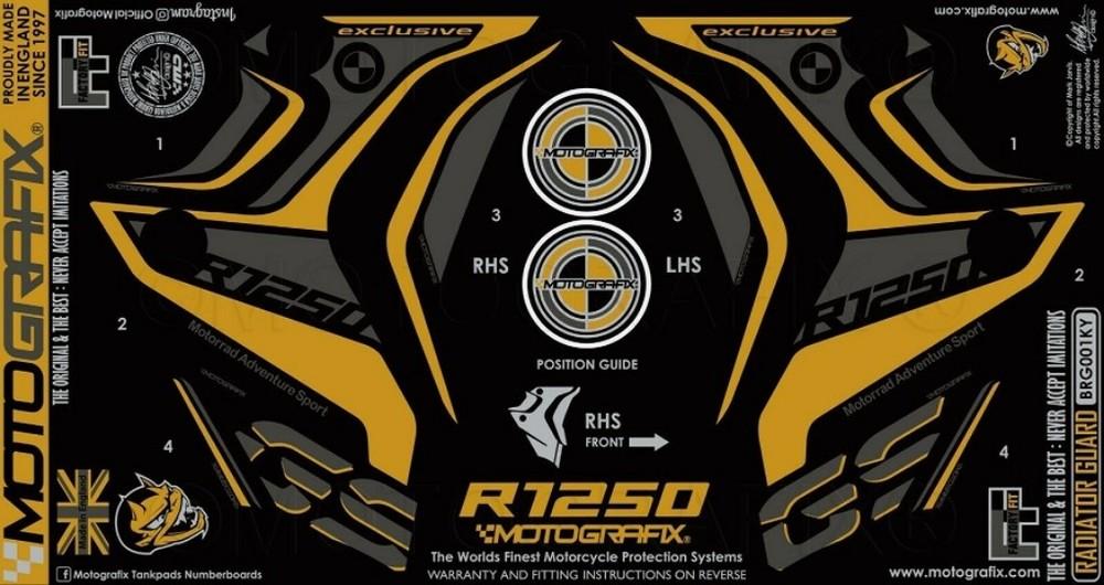 【ポイント5倍開催中!!】MOTOGRAFIX モトグラフィックス ステッカー・デカール ラジエータープロテクター R1250GS