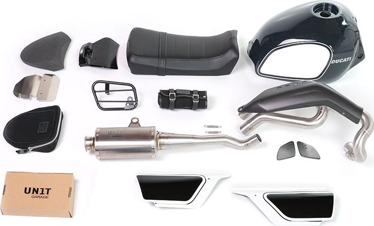 UNIT GARAGE ユニットガレージ フルカウル・セット外装 コンプリートキット Fuoriluogo タンクカラー:ダーク グレー Scrambler 800
