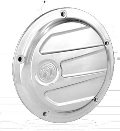 PerformanceMachine パフォーマンスマシン 汎用外装部品・ドレスアップパーツ SCALLOP ダービーカバー 仕上げ:クロム Twin Cam (5穴)