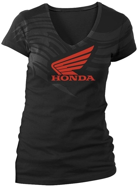 US HONDA 北米ホンダ純正アクセサリー Tシャツ LADIES ABSTRACT WINGS SHORT SLEEVE TEE レディース サイズ:WLG