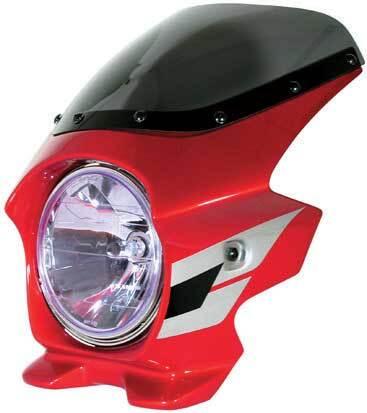 N PROJECT Nプロジェクト エヌプロジェクト ビキニカウル・バイザー ブラスターII エアロスクリーン カラー:パールフェイドレスホワイト (ウイングライン/複色仕上げ) CB400SF HYPER VTEC SpecIII 05-06