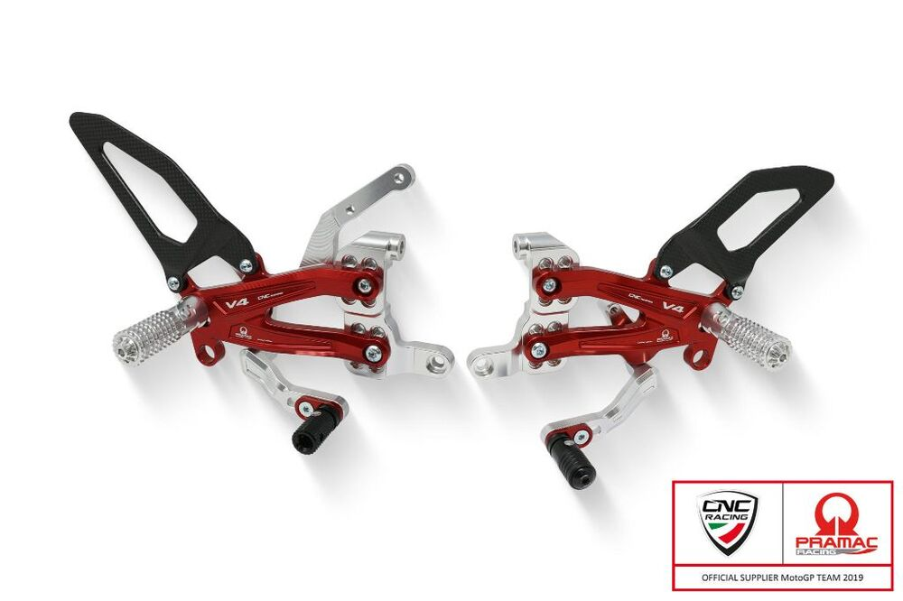 CNC Racing CNCレーシング バックステップ Adjustable rear sets RPS Ducati Panigale V4 R - Pramac Racing Limited Edition