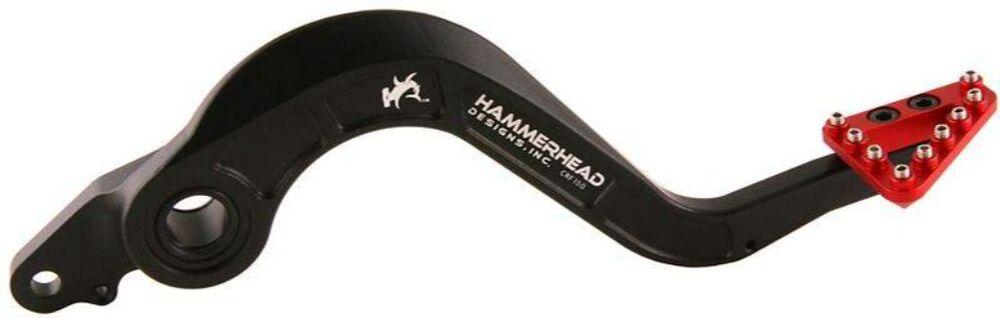 HammerHead ハマーヘッド ブレーキペダル・シフトペダル ビレット ブレーキペダル ラージアルミティップ クレビスカラー:レッド ブレーキティップカラー:シルバー CRF450X