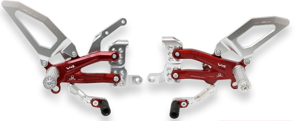 CNC Racing CNCレーシング 調整可能バックステップ RPS Ducati Panigale V4 series for V4, V4 S and V4 Speciale - EASY - プラマック・レーシング リミテッドエディション