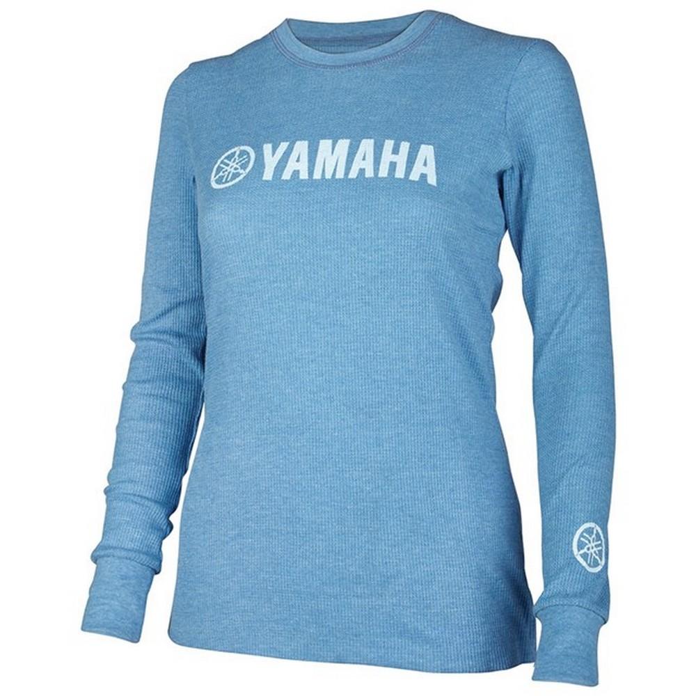 US YAMAHA 北米ヤマハ純正アクセサリー レディース YAMAHA ヘザードロイヤル サーマルTシャツ【Women's Yamaha Heathered Royal Thermal Tee】 サイズ:LG