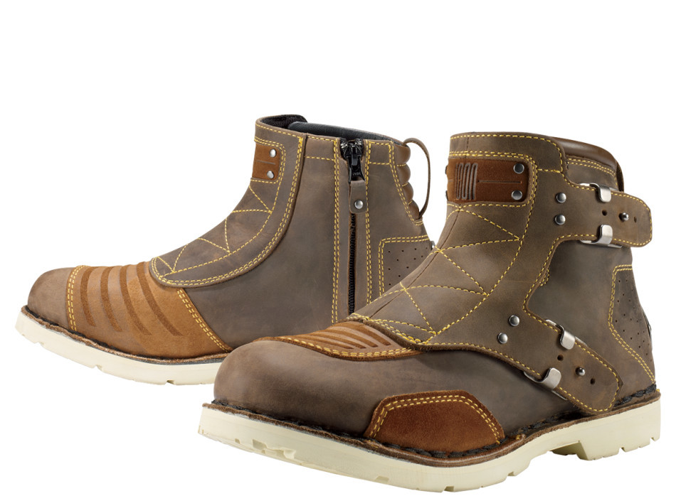 【クーポン配布中】ICON アイコン オンロードブーツ EL BAJO BOOT エルバジョ・ブーツ サイズ:8.5(約26.5cm)