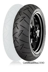 Continental コンチネンタル オンロード・ツーリング/ストリート ContiRoadAttack2 EVO 【190/55 ZR 17 M/C (75W) TL】 コンチロードアタック2エボ タイヤ