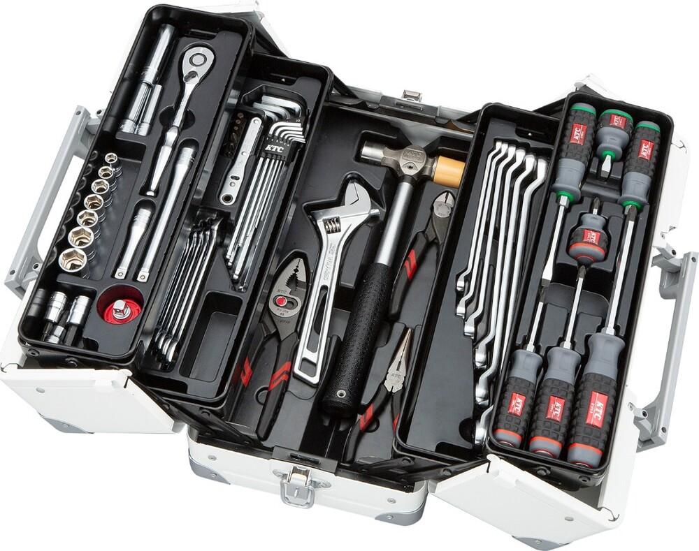 KTC ケイティーシー 工具セット 両開きメタルケースタイプ