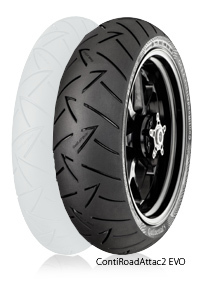 Continental コンチネンタル オンロード・ツーリング/ストリート ContiRoadAttack2 EVO 【180/55 ZR 17 M/C (73W) TL】 コンチロードアタック2エボ タイヤ