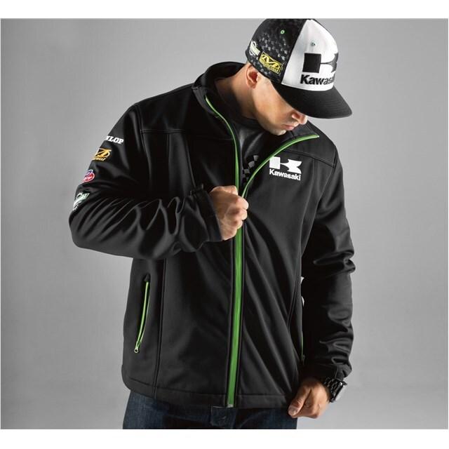 US KAWASAKI 北米カワサキ純正アクセサリー レース ソフトシェルジャケット (Race Soft Shell Jacket)