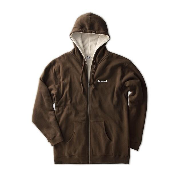 US KAWASAKI 北米カワサキ純正アクセサリー アウトドアジップフロントシェパスウェットシャツ (Outdoor Zip-Front Sherpa Sweatshirt)
