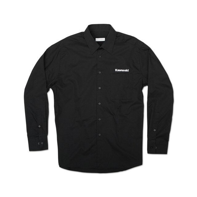US KAWASAKI 北米カワサキ純正アクセサリー カジュアルウェア クラシックドレスシャツ (Classic Dress Shirt) サイズ:MD