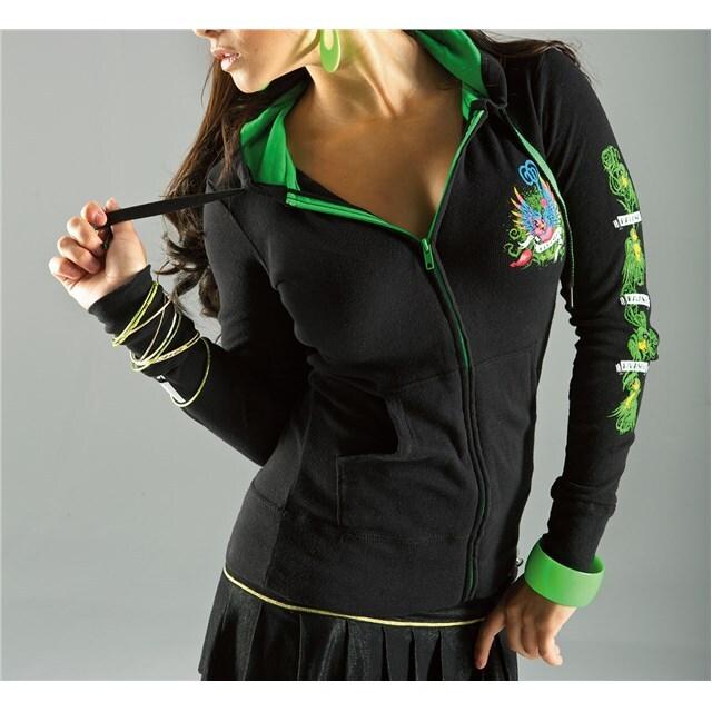 US KAWASAKI 北米カワサキ純正アクセサリー カジュアルウェア レディース ツイートフードスウェットシャツ (Women'S Tweet Hooded Sweatshirt) サイズ:XL