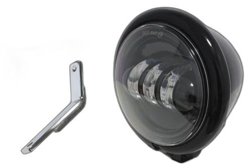 ガレージT&F ヘッドライト本体・ライトリム/ケース 4.5インチベーツライトプロジェクターLED仕様 &ライトステー(タイプD)キット カラー:ブラック タイプ:リング無し スティード400
