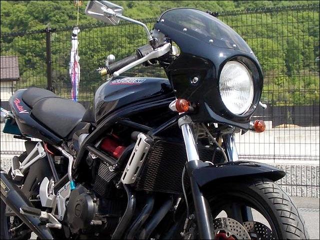 CHIC DESIGN シックデザイン ビキニカウル・バイザー ロードコメット カラー:スモーク カラー:パールノベルティブラック(カラーコード:33J) (単色塗装済み) BANDIT400 [バンディット]