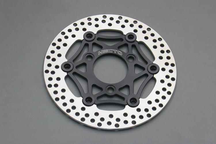NECTO ネクト φ220レーシングディスクローター カラー:インナーブラック:ピンブラック NS-1 NSF100 NSR50 XR100モタード