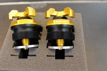 BIKERS バイカーズ イニシャルアジャスター カラー:オレンジゴールド YZF-R25 YZF-R3