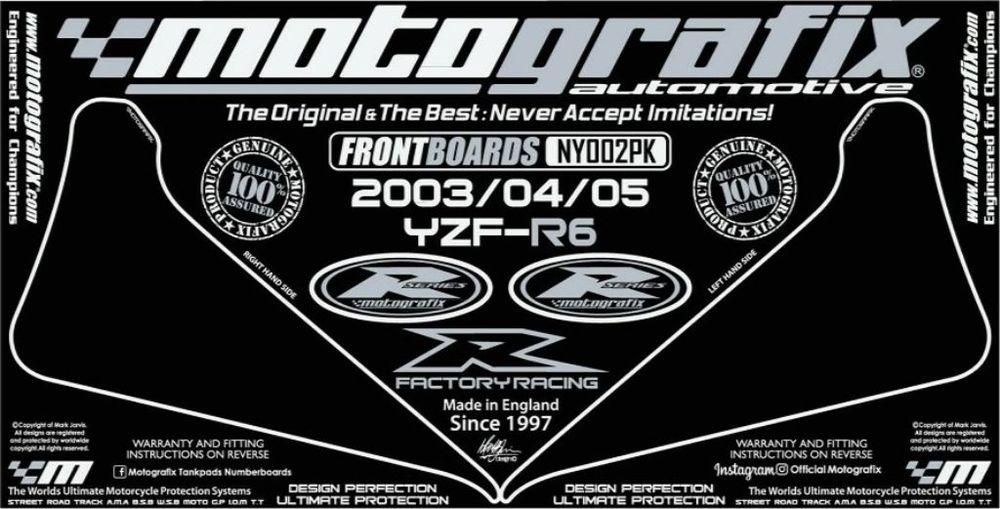 【ポイント5倍開催中!!】MOTOGRAFIX モトグラフィックス ステッカー・デカール ボディーパッド YZF-R6